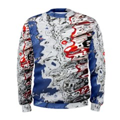 Water Reflection Abstract Blue Men s Sweatshirt