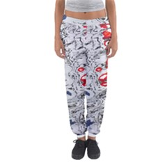 Water Reflection Abstract Blue Women s Jogger Sweatpants
