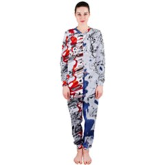 Water Reflection Abstract Blue OnePiece Jumpsuit (Ladies)