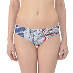 Water Reflection Abstract Blue Hipster Bikini Bottoms