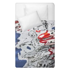 Water Reflection Abstract Blue Duvet Cover Double Side (single Size)