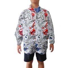 Water Reflection Abstract Blue Wind Breaker (Kids)
