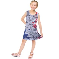 Water Reflection Abstract Blue Kids  Tunic Dress