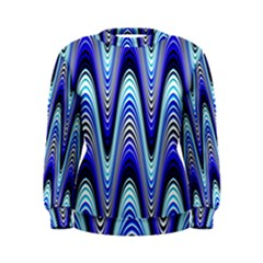 Waves Wavy Blue Pale Cobalt Navy Women s Sweatshirt