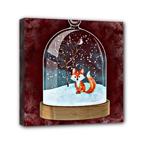 Winter Snow Ball Snow Cold Fun Mini Canvas 6  X 6