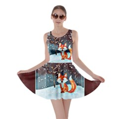 Winter Snow Ball Snow Cold Fun Skater Dress