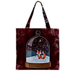 Winter Snow Ball Snow Cold Fun Zipper Grocery Tote Bag