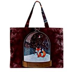Winter Snow Ball Snow Cold Fun Zipper Mini Tote Bag