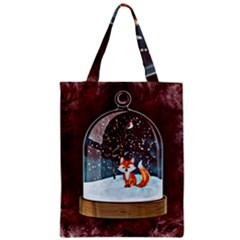 Winter Snow Ball Snow Cold Fun Zipper Classic Tote Bag
