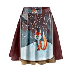 Winter Snow Ball Snow Cold Fun High Waist Skirt