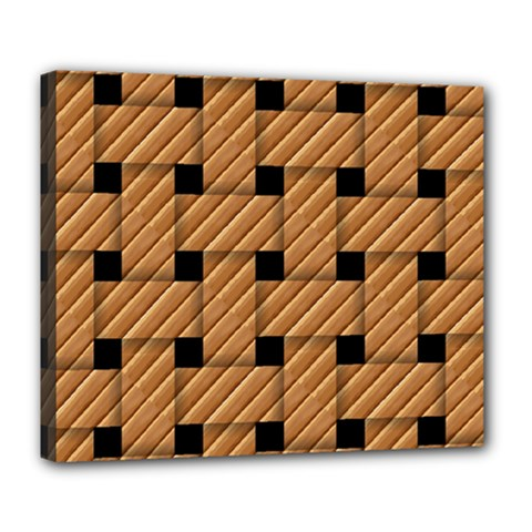 Wood Texture Weave Pattern Deluxe Canvas 24  x 20