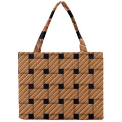 Wood Texture Weave Pattern Mini Tote Bag