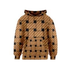 Wood Texture Weave Pattern Kids  Pullover Hoodie
