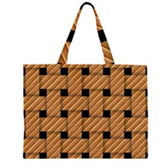 Wood Texture Weave Pattern Large Tote Bag