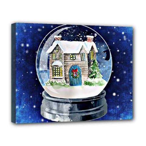 Winter Snow Ball Snow Cold Fun Canvas 14  x 11