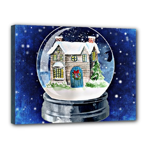 Winter Snow Ball Snow Cold Fun Canvas 16  x 12