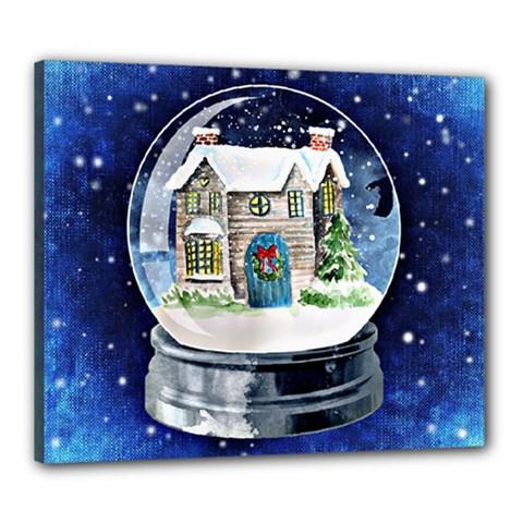 Winter Snow Ball Snow Cold Fun Canvas 24  x 20