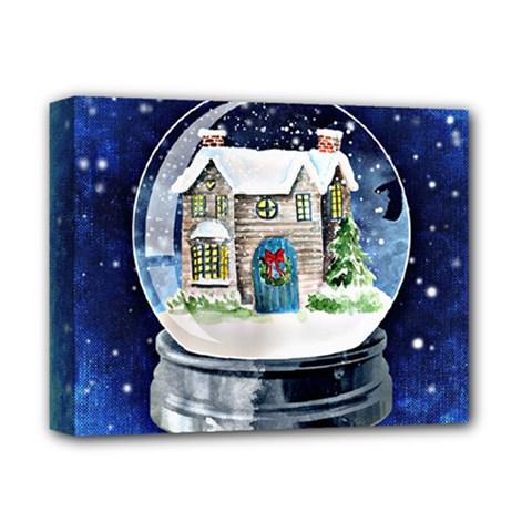 Winter Snow Ball Snow Cold Fun Deluxe Canvas 14  X 11