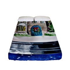 Winter Snow Ball Snow Cold Fun Fitted Sheet (full/ Double Size)
