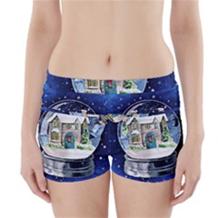 Winter Snow Ball Snow Cold Fun Boyleg Bikini Wrap Bottoms