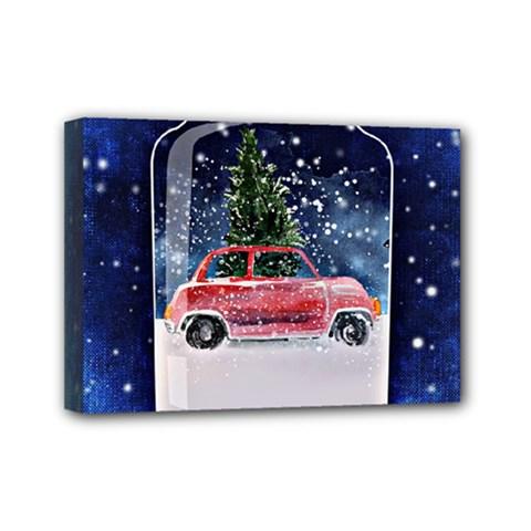 Winter Snow Ball Snow Cold Fun Mini Canvas 7  x 5