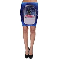 Winter Snow Ball Snow Cold Fun Bodycon Skirt