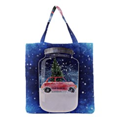 Winter Snow Ball Snow Cold Fun Grocery Tote Bag