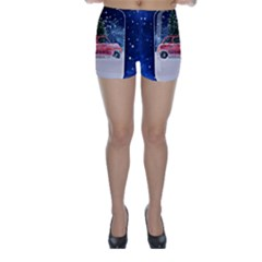 Winter Snow Ball Snow Cold Fun Skinny Shorts