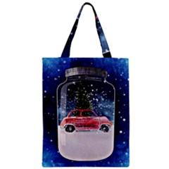 Winter Snow Ball Snow Cold Fun Zipper Classic Tote Bag