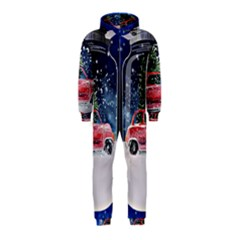 Winter Snow Ball Snow Cold Fun Hooded Jumpsuit (kids)