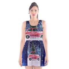 Winter Snow Ball Snow Cold Fun Scoop Neck Skater Dress