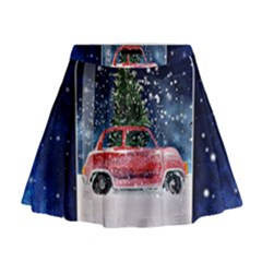 Winter Snow Ball Snow Cold Fun Mini Flare Skirt