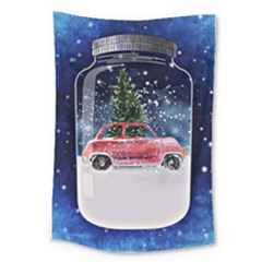 Winter Snow Ball Snow Cold Fun Large Tapestry