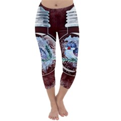Winter Snow Ball Snow Cold Fun Capri Winter Leggings