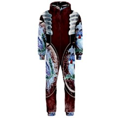 Winter Snow Ball Snow Cold Fun Hooded Jumpsuit (men)