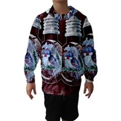 Winter Snow Ball Snow Cold Fun Hooded Wind Breaker (Kids)