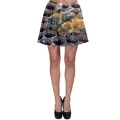 Worker Bees On Honeycomb Skater Skirt