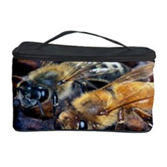 Worker Bees On Honeycomb Cosmetic Storage Case