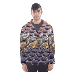 Worker Bees On Honeycomb Hooded Wind Breaker (men)