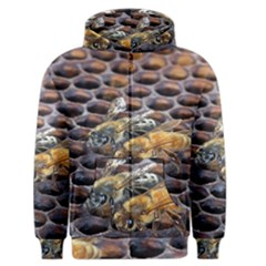 Worker Bees On Honeycomb Men s Zipper Hoodie