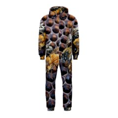 Worker Bees On Honeycomb Hooded Jumpsuit (kids)