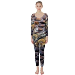 Worker Bees On Honeycomb Long Sleeve Catsuit