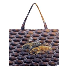 Worker Bees On Honeycomb Medium Tote Bag
