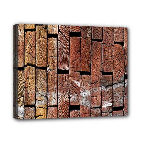 Wood Logs Wooden Background Canvas 10  X 8