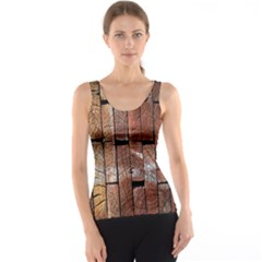 Wood Logs Wooden Background Tank Top