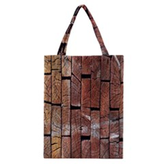 Wood Logs Wooden Background Classic Tote Bag