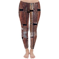 Wood Logs Wooden Background Classic Winter Leggings