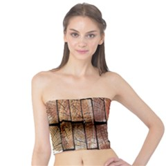 Wood Logs Wooden Background Tube Top