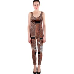 Wood Logs Wooden Background Onepiece Catsuit