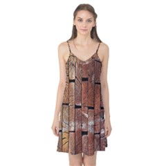 Wood Logs Wooden Background Camis Nightgown